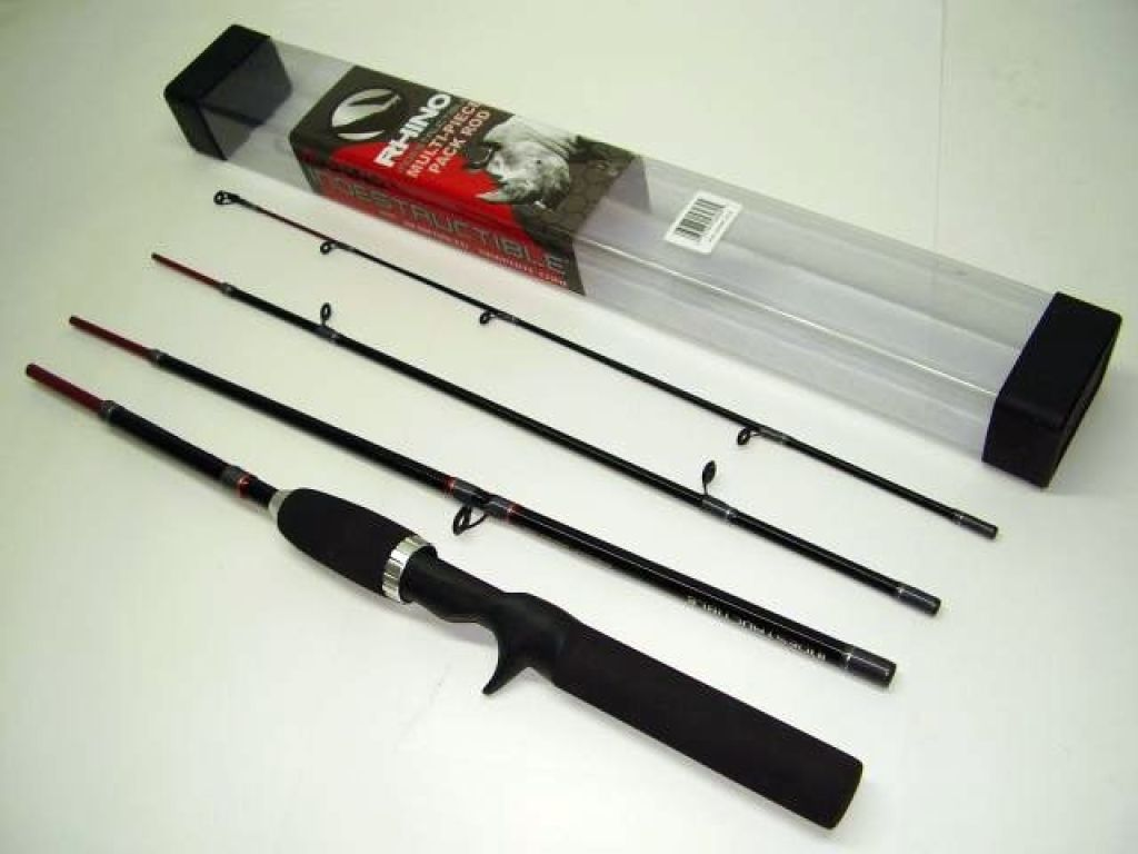 Zebco rhino indestructible 4 piece casting 6 39 for Rhino fishing pole