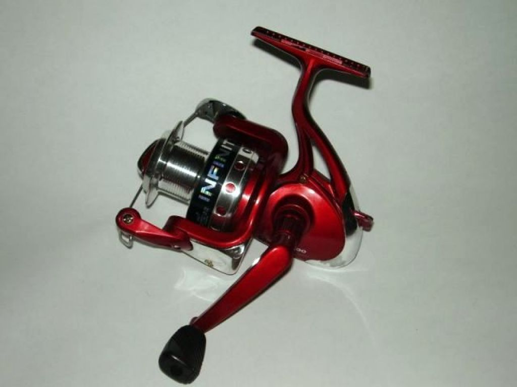 South bend infinity km 200 60 used spinning reel red for South bend fishing reel
